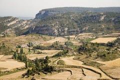 Paese e montagna Fotografia Stock Libera da Diritti