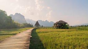 Paese nel Laos Immagine Stock