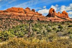 Paese rosso della roccia dell'alta montagna del deserto Fotografia Stock
