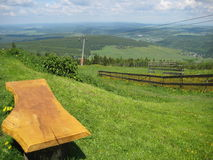Paese scenico sulla collina Fotografia Stock Libera da Diritti