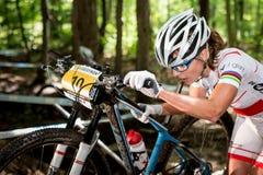 Paese trasversale 2013, Mont Ste-Anne, B della coppa del Mondo di UCI Fotografia Stock Libera da Diritti