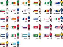 Paesi che giocano la coppa del Mondo 2014 di calcio del Brasile Immagini Stock