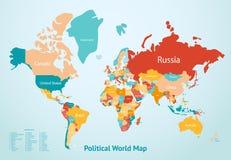 Paesi della mappa della terra illustrazione vettoriale