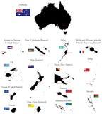 Paesi di Oceania e dell'Australia Immagine Stock
