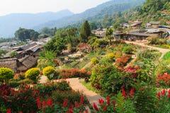 Paesini di montagna a Chiang Mai Fotografia Stock Libera da Diritti
