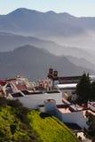 Paesino di montagna Artenara, Gran Canaria Immagine Stock