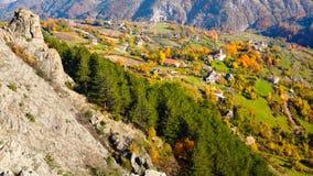 Paesino di montagna in Bulgaria Fotografia Stock Libera da Diritti