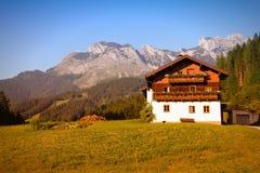 Paesino di montagna dell'Austria Fotografia Stock