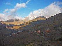 Paesino di montagna di Imlil, alto atlante, Marocco Fotografie Stock