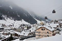 Paesino di montagna di Ischgl Immagine Stock