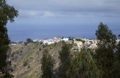 Paesino di montagna di Moya, Gran Canaria Fotografia Stock Libera da Diritti