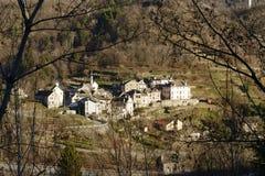 Paesino di montagna di Roledo, Ossola, Italia Fotografia Stock
