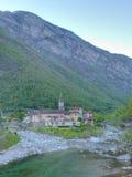 Paesino di montagna di Ticino Fotografia Stock
