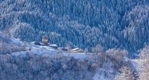 Paesino di montagna in Georgia Fotografie Stock
