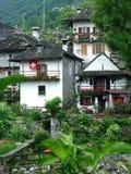 Paesino di montagna Lavertezzo Fotografia Stock Libera da Diritti