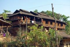Paesino di montagna, lo Stato Shan, Myanmar Immagine Stock Libera da Diritti