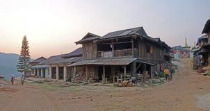 Paesino di montagna, lo Stato Shan, Myanmar Immagini Stock Libere da Diritti