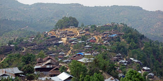 Paesino di montagna, lo Stato Shan, Myanmar Fotografie Stock Libere da Diritti