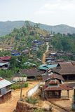 Paesino di montagna, lo Stato Shan, Myanmar Fotografia Stock