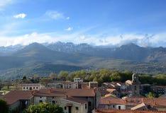 Paesino di montagna in mezzo alla Corsica Fotografie Stock