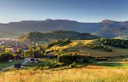 Paesino di montagna nel Tatras Fotografia Stock Libera da Diritti