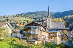 Paesino di montagna nelle alpi, Taxenbach, Austria Immagini Stock