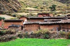 Paesino di montagna peruviano Fotografia Stock Libera da Diritti