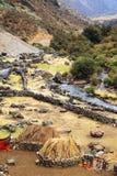 Paesino di montagna peruviano Fotografia Stock