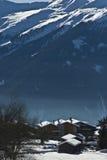 Paesino di montagna più verbier Fotografia Stock