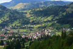 Paesino di montagna pittoresco Fotografie Stock Libere da Diritti