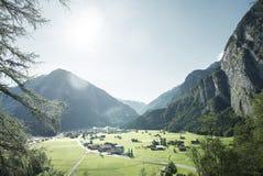 Paesino di montagna, regione di Jungfrau, Svizzera Fotografia Stock