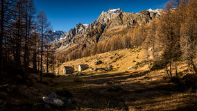 Paesino di montagna rurale Fotografia Stock Libera da Diritti