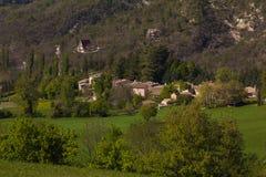 Paesino di montagna rurale nella regione della Marche Fotografia Stock Libera da Diritti