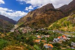 Paesino di montagna Serra de Aqua - Madera Portogallo fotografie stock