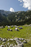 Paesino di montagna, Slovenia Fotografie Stock