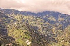 Paesino di montagna un giorno di estate, Sudamerica Immagini Stock Libere da Diritti