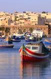 Paesino di pescatori #3 di Marsaxlokk Fotografie Stock Libere da Diritti