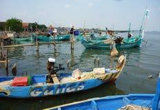 Paesino di pescatori Immagini Stock Libere da Diritti