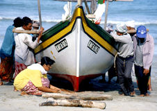 Paesino di pescatori a Bachok, Kelantan Immagine Stock Libera da Diritti