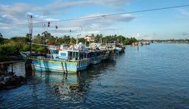 Paesino di pescatori a Colombo, Sri Lanka Immagine Stock Libera da Diritti