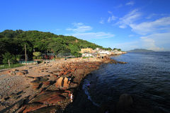 Paesino di pescatori del mun di Yue dei leu Immagini Stock Libere da Diritti