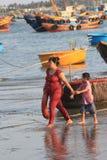 Paesino di pescatori del Ne del Vietnam Mui Fotografia Stock Libera da Diritti