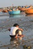 Paesino di pescatori del Ne del Vietnam Mui Immagini Stock