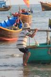 Paesino di pescatori del Ne del Vietnam Mui Immagini Stock Libere da Diritti
