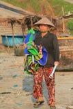 Paesino di pescatori del Ne del Vietnam Mui Immagine Stock