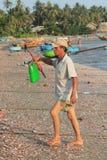 Paesino di pescatori del Ne del Vietnam Mui Immagine Stock Libera da Diritti