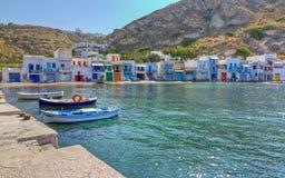 Paesino di pescatori di Klima, Milos immagini stock libere da diritti