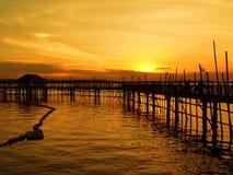 Paesino di pescatori di lungomare Immagine Stock Libera da Diritti