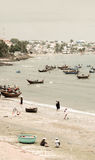 Paesino di pescatori di Muine, costa del Vietnam Fotografia Stock Libera da Diritti