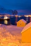 Paesino di pescatori di Reine, Lofotens Immagine Stock